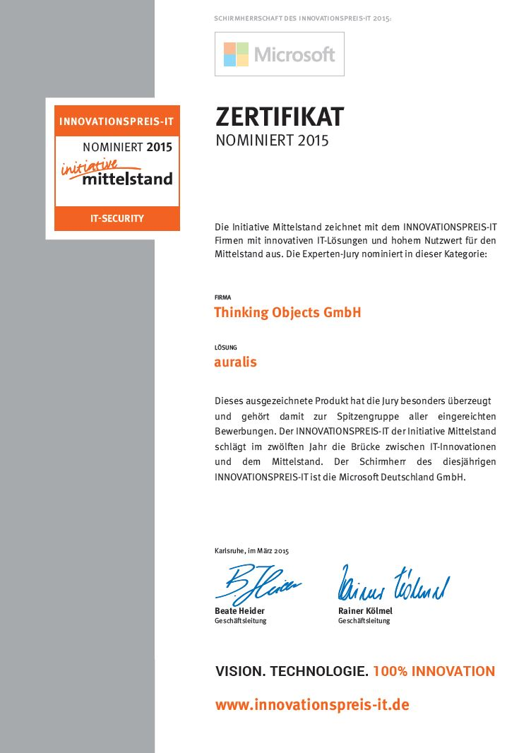 Innovationspreis_Zertifikat