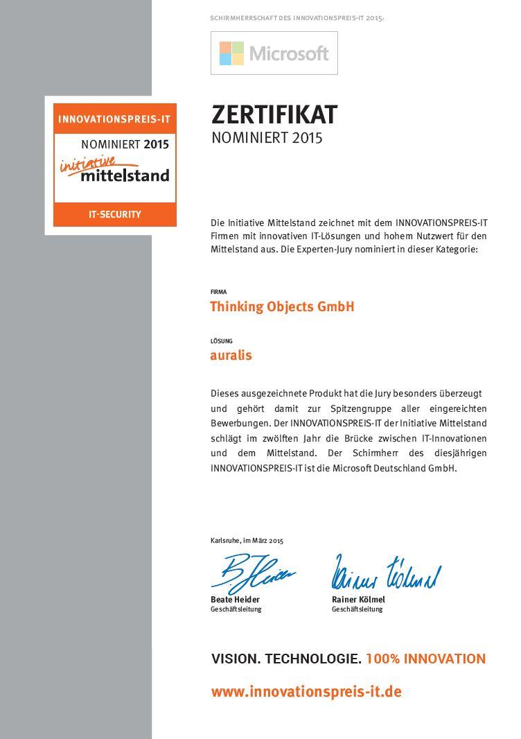 Innovationspreis_Zertifikat